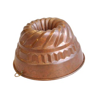 Large 1950s Copper Mold For Sale