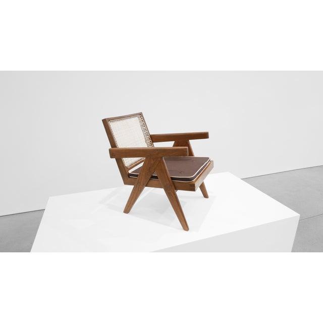 Pierre Jeanneret 1955 Pierre Jeanneret Model Pj-Si-29-A Low Lounge Chair For Sale - Image 4 of 8