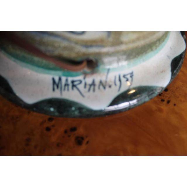 Metal Marian Zawadsky for Tilgman Keramik Vintage Sweden Table Lamp For Sale - Image 7 of 11