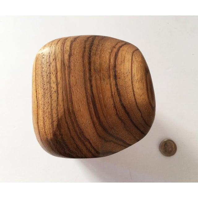 Artisan Walnut Ebony and Zebra Wooden Covered Box - Image 3 of 8