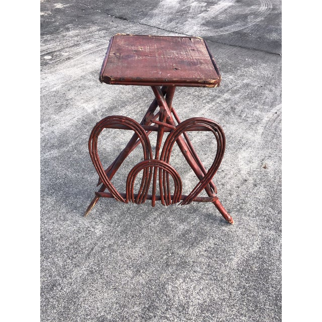 Twig Rustic Adirondack End Side Table For Sale - Image 9 of 9