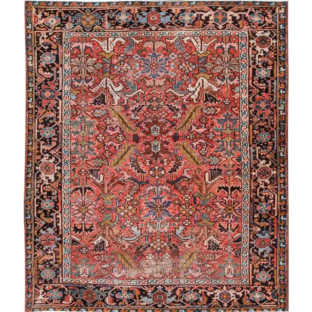 "Persian Heriz Rug- 7'2"" x 8'9"" - Image 1 of 7"