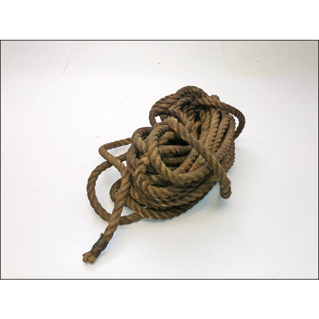 Vintage Nautical Woven Hemp Rope For Sale - Image 6 of 11