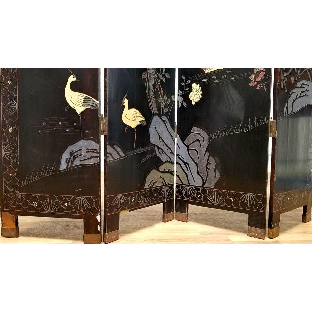 1980s Japanese 4-Panel Room Divider For Sale In Los Angeles - Image 6 of 7