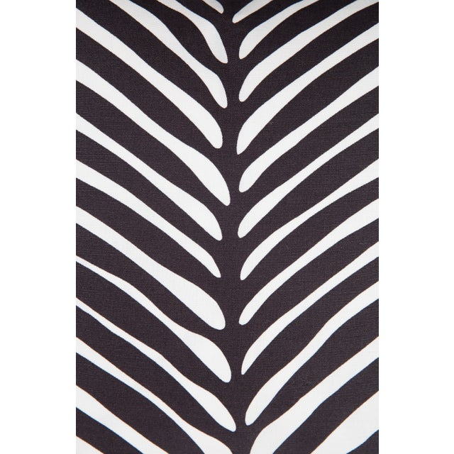 Contemporary Schumacher Zebra Palm Pillows - A Pair For Sale - Image 3 of 5