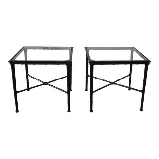 Vintage Brown Jordan Calcutta Side Tables - a Pair