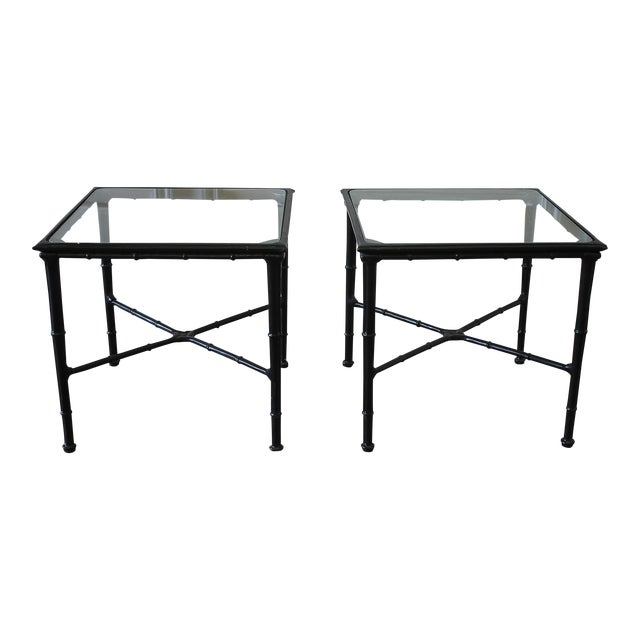 Vintage Brown Jordan Calcutta Side Tables - a Pair For Sale