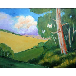 Contemporary Napa Valley California Eucalyptus Hills Landscape Lynne French For Sale