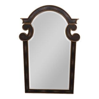 Mr. Brown Espresso Shagreen & Aged Brass Mirror (S) For Sale