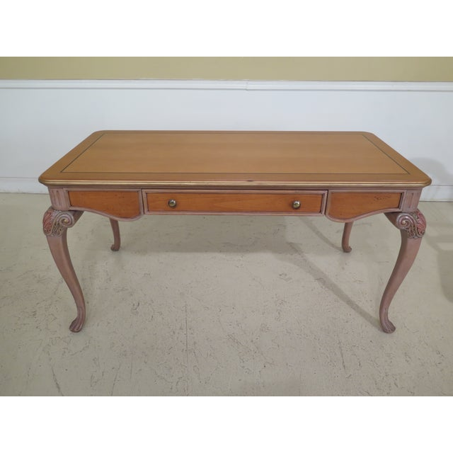 Italian Style Paint Decorated Desk & Matching Chair Age: Approx: 20 Years Old Details: Fold Down Keyboard Drawer Nice...