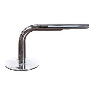 Vintage Chrome Tube Desk Lamp by Ingo Maurer, Circa 1960 For Sale