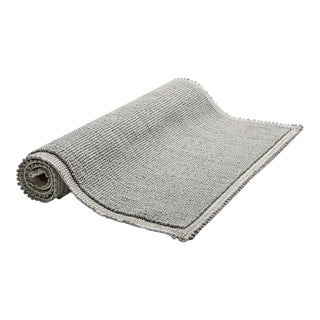 "Grano Bath Rug 23 1/2"" x 72"" in Gray For Sale"