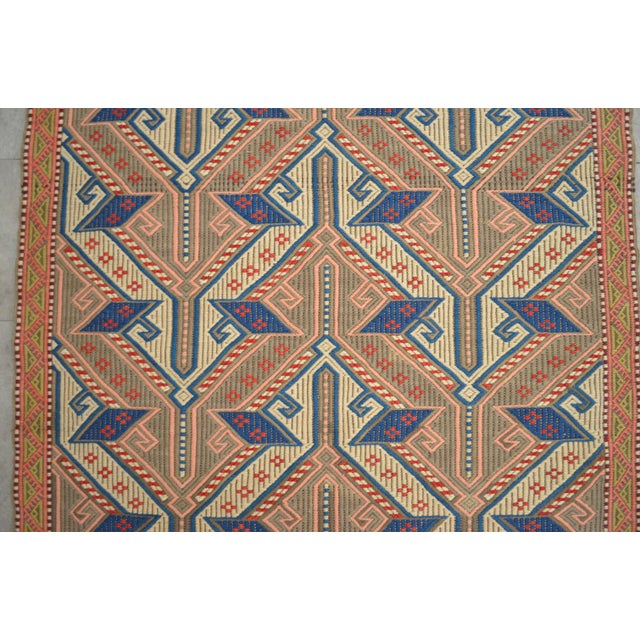 """Vintage Masterpiece Braided Rug. Hand Woven Small Area Rug - 3' 7"""" X 6' For Sale In Raleigh - Image 6 of 10"""