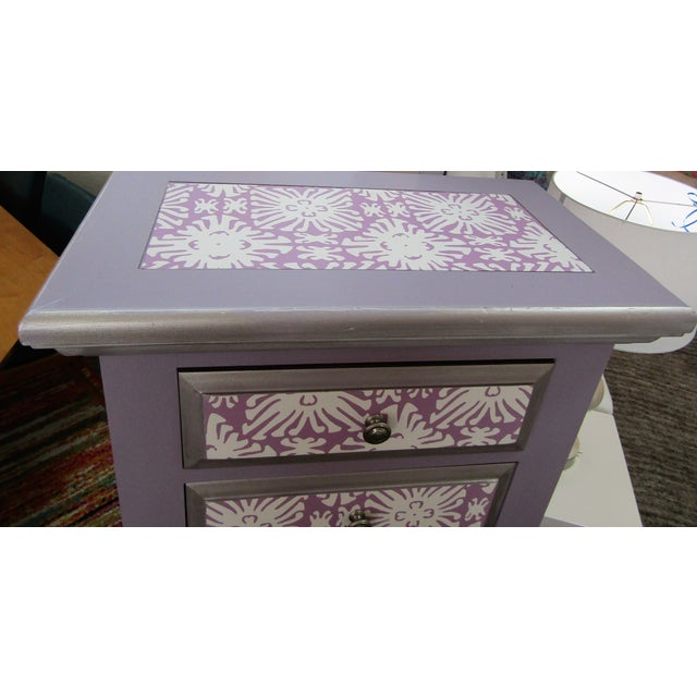 Broyhill Boho Chic Broyhill Lavender Pine Highboy/Lingerie Chest For Sale - Image 4 of 5