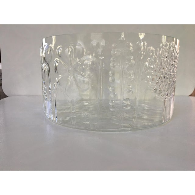 1960s 1960s Mid-Century Modern Oiva Toikka Flora Glass Bowl by Arabia Finland For Sale - Image 5 of 10