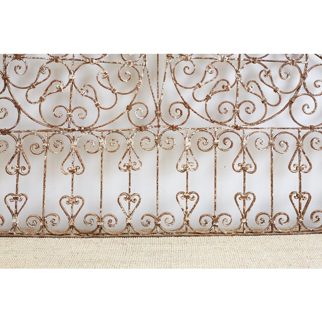 19th Century French Demilune Iron Transom Grille For Sale - Image 10 of 12