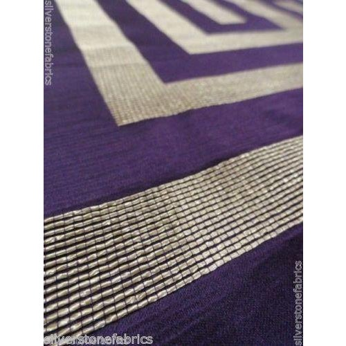 Beacon Hill Geometric Olympus in Purple & Silver - 2.25 Yards - Image 3 of 5