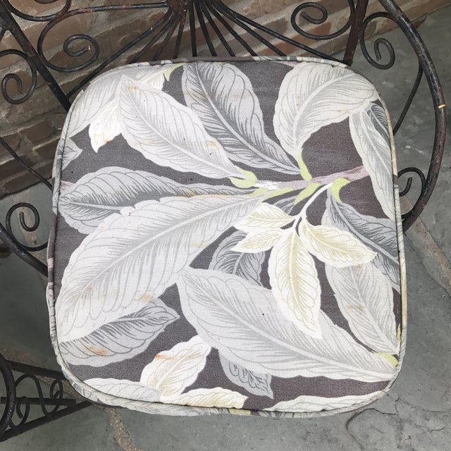 Vintage Petite Iron Chairs - A Pair - Image 6 of 6