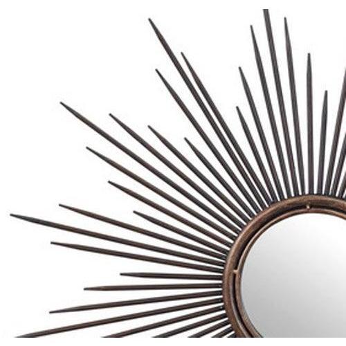Bronze Metal Sunburst Mirror - Image 2 of 2