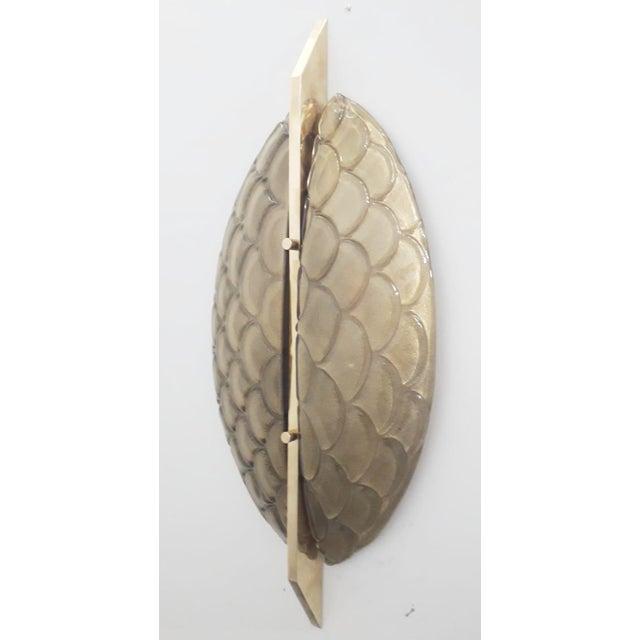 Art Deco Luna Oro Sconces / Flush Mounts by Fabio Ltd - a Pair For Sale - Image 3 of 6