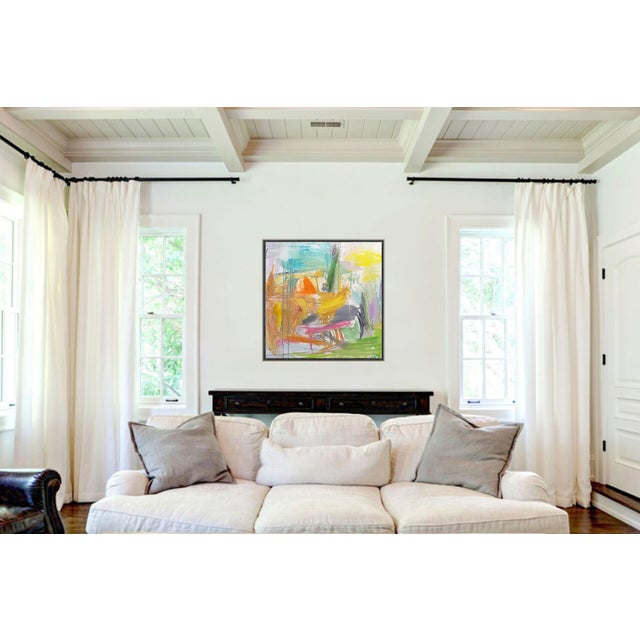 """Spring Field"" by Trixie Pitts Abstract Oil Painting For Sale In Nashville - Image 6 of 10"