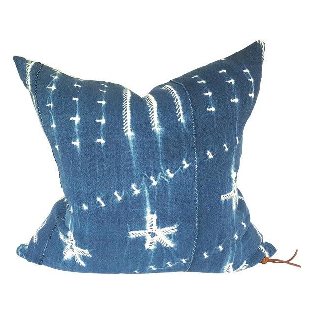 Vintage African Indigo Mudcloth Pillow - Image 1 of 4
