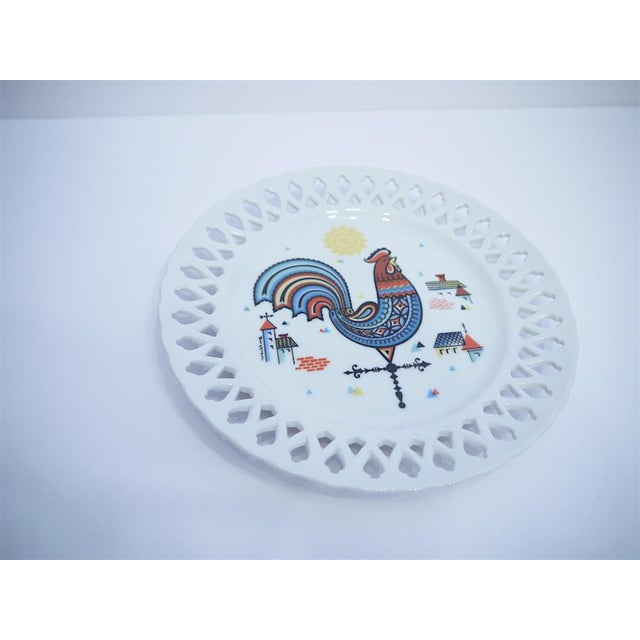 Country Berggren Mid-Century Rooster Plate For Sale - Image 3 of 6