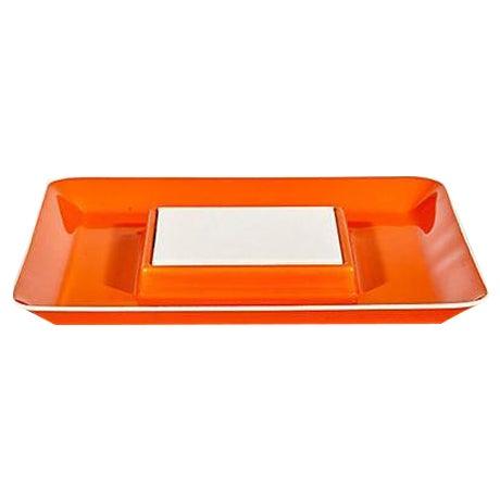 1970s Orange Plastic Serving Plate - Image 1 of 4