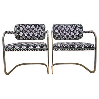 Chrome Cantilever Chairs - A Pair For Sale