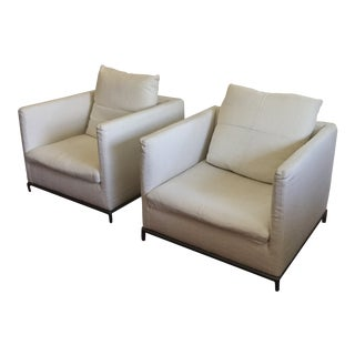 Modern B&b Italia Antonio Citterio George Chairs- a Pair For Sale