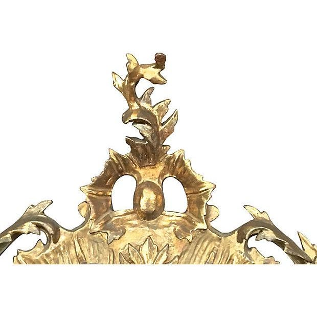 Antique Rococo Style Wall Mirror For Sale - Image 5 of 5