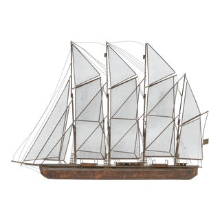 Curtis Jere Copper Sailboat Wall Decor For Sale