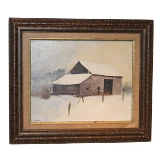 Winter Scene Oil Painting For Sale