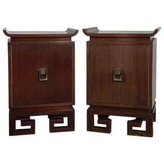 1960s Vintage James Mont Asian Style Bedside Tables- a Pair For Sale