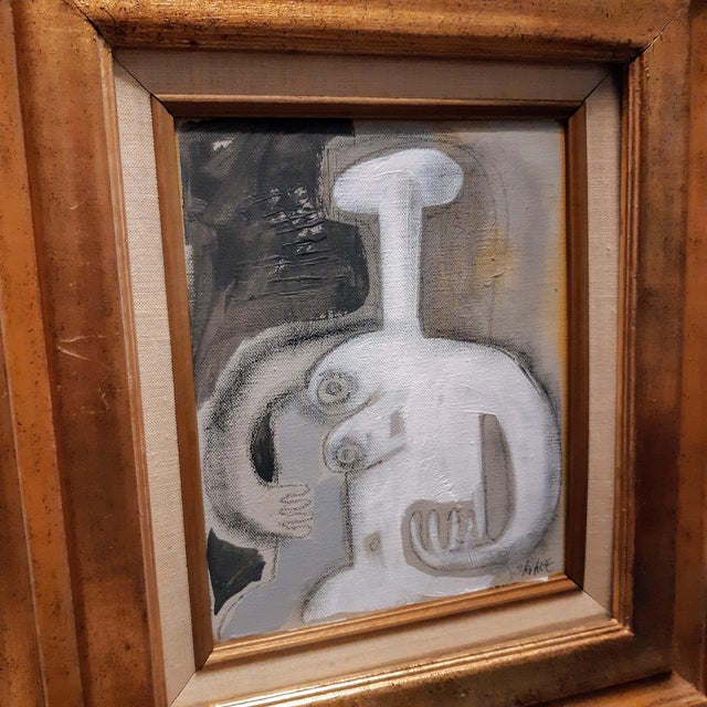 Abstract Vintage Framed Female Nude #3 Painting For Sale - Image 3 of 4