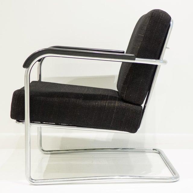 Werner Max Moser Tubular Steel Armchair for Embru Werke - Image 5 of 11