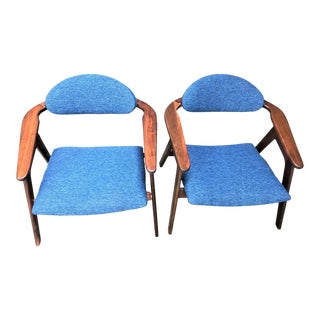 1960s Mid Century Adrian Pearsall Captain Chairs - a Pair For Sale