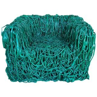 """Gaetano Pesce Green Silicone Curb Chair """"Senza Fine"""" for Meritalia, 2010 For Sale"""