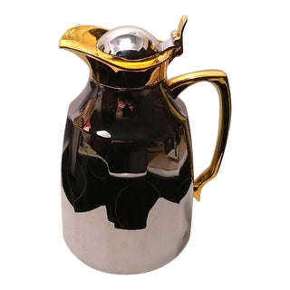1980s Alfi Juwel Chrome Plated & Brass Vacuum Carafe For Sale