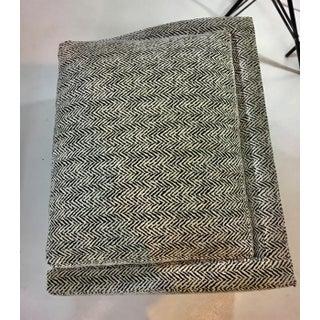 Kravet Black and White Herringbone PrintVelvet Camden Lounge Chair and Ottoman Set/Chaise Preview