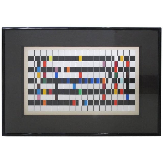 Blue Yaacov Agam Signed 1980s Color Serigraph, Titled One and Another For Sale - Image 8 of 8