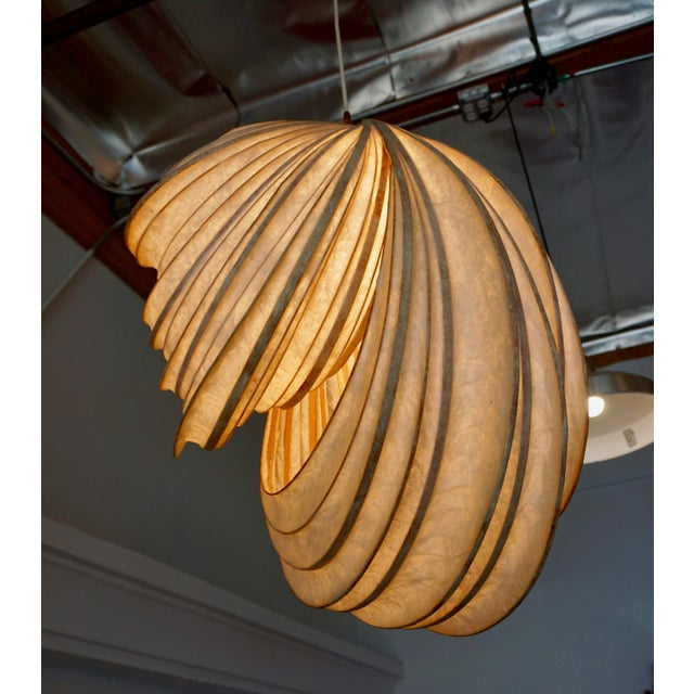 White Pendant Light Sculpture by William Leslie For Sale - Image 8 of 9