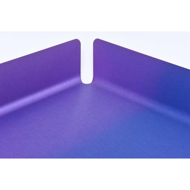 Contemporary Limited Edition Art Basel Anodized Aluminum Serving/Bar Tray For Sale - Image 3 of 9