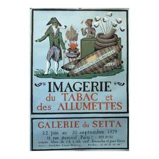 1979 French Tobacco Exhibition Poster For Sale
