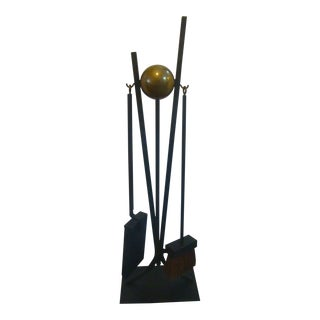 Donald Deskey Fireplace Tools Set Midcentury Modern Atomic Ranch For Sale