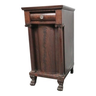 19th Century Empire Mahogany Wine Cabinet with Paw Feet For Sale
