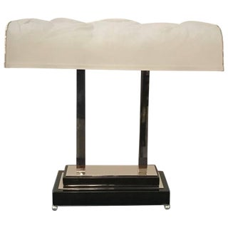 French Art Deco Table Lamp Signed by Sabino For Sale