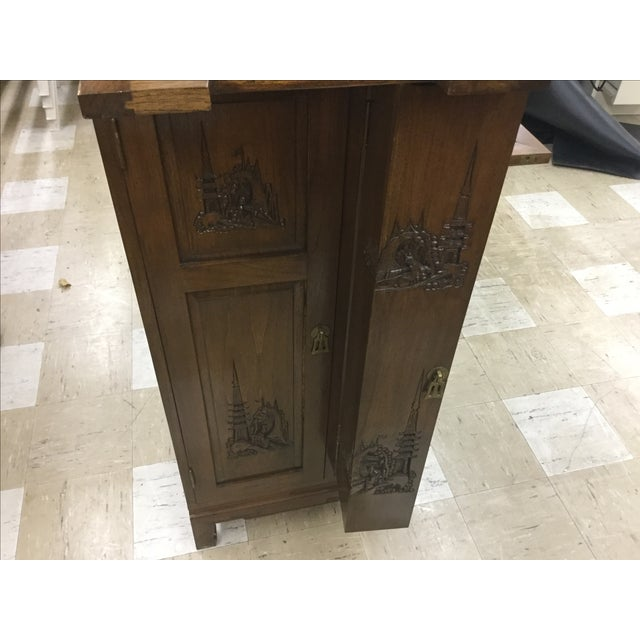 Chinese Carved Bar Cabinet - Image 5 of 9