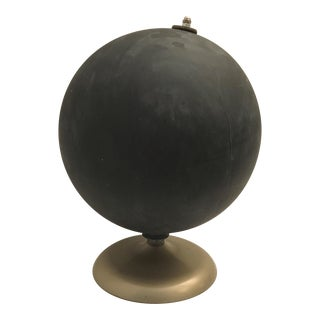 Painted Chalkboard Globe With Metal Base