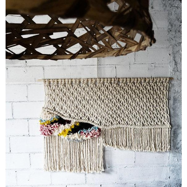 Modern Boho Chic Macrame Wall Hanging For Sale - Image 5 of 5
